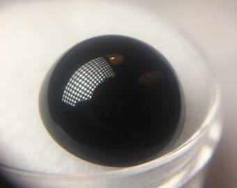Onyx round cabochon 14mm 1pc