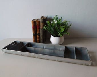 Industrial metal tray Metal tray with compartments Divided metal tray