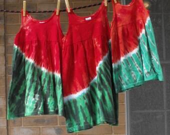 Krawatte Farbstoff Wassermelone Kleid für Mädchen
