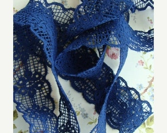ONSALE Vintage 1960s Pretty Blue Lace 2 Yards