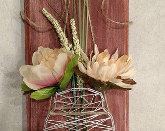 Mason Jar String Art Decor