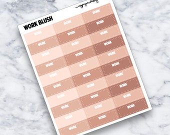 Work | Blush | Functional | Planner Stickers