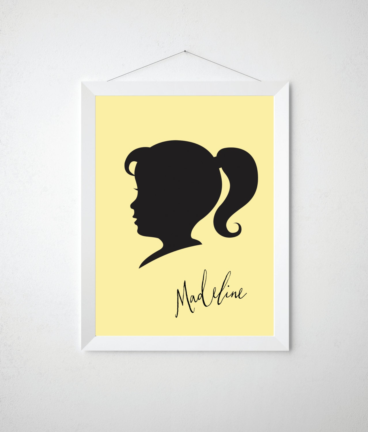 Child Silhouette Cameo Print Personalized Name Childrens
