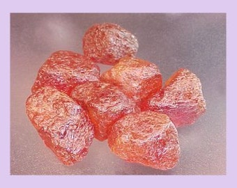 2.0 - 2.9 gr. pcs of alluvial hessonite rough