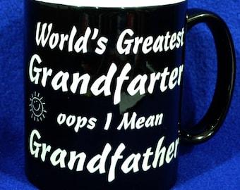 Birthday Gift For Grandpa ~ Grandpa Gifts ~ World's Greatest Grandfather ~ Custom Coffee Mug ~ Grandpa Gift ~ Gift For Men ~ Grandpa ~ Mugs