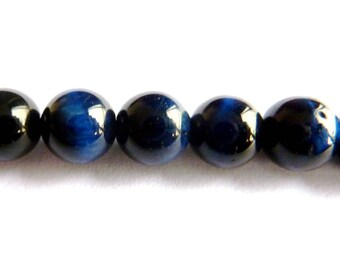 Pearl of the blue tiger eye Ø 10mm PF0200 sold by the unit