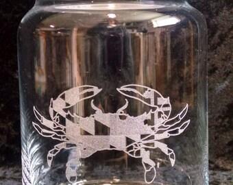 Maryland Crab Candy Jar, 31 oz.