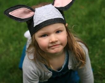 Black Sheep Tail & Ears - Baa Baa Black sheep Tail and Ears - Kids Animal costume - Nativity Costume - Lamb Costume