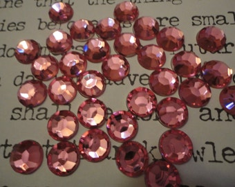 Light pink acrylic rhinestones  decoden deco diy 10 mm   20 pcs---USA seller