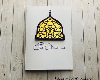 Handmade Mosaid Eid Greeting Card