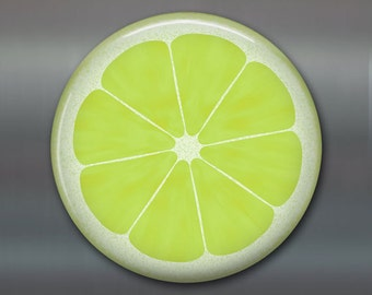 "3.5"" lime slice fridge magnets - citrus kitchen art print - housewarming gifts for foodie - large magnet locker decoration - MA-1607"