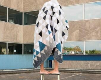 Mohair Blanket 01 - Modern Blanket Geometric throw blanket Wool blanket