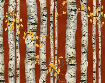 Natures Glory Birch Trees  Fabric From Quilting Treasures By the Yard