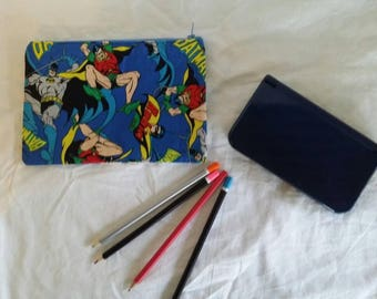 Batman, Nintendo, DS Case, Pencil Case, Organiser Zippered Pouch, Phone Pouch, School Supplies Zipper Purse