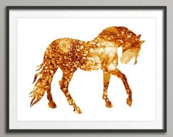 Horse Art, Abstract Art, Horse Print, Room Decor, Horse Art Print