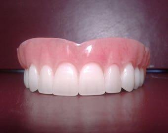 Denture, upper false teeth large
