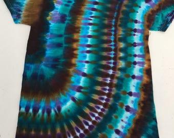 S Seafoam Aqua Groove Tie Dye T-Shirt