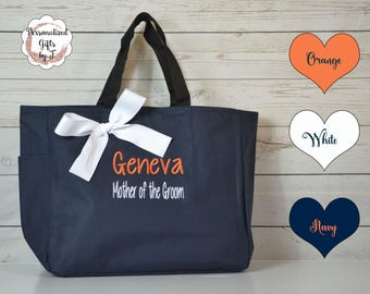 Personalized Bridesmaid Gift Tote Bag- Wedding Party Gift- Bridal Party Gift- Initial Tote- Mother of the Bride Gift