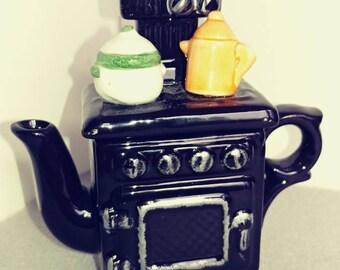 Antique stove miniature teapot