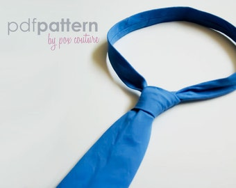 Skinny Necktie - PDF PATTERN and Instructions : Ages 3-8