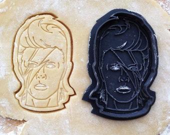 David Bowie face cookie cutter. Ziggy Stardust cookie cutter. David Bowie cookies
