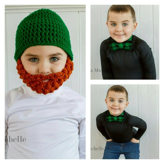 St. Patrick's Day Kids, Leprechaun Costume Baby, Irish Baby, St. Patrick's Day Baby Shower, St. Patrick's Day Baby Outfit, Plaid Bow Tie