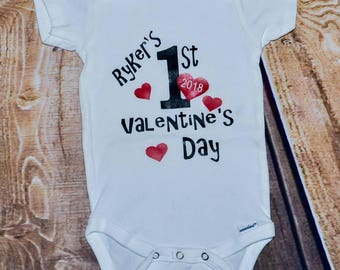 Customizable Onesie | Babies 1st Valentines Day