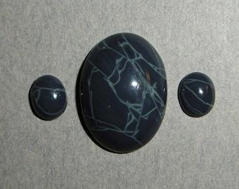 Spiderweb Obsidian Cabochon Set