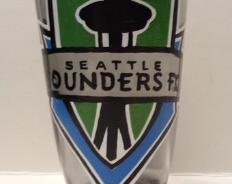 Seattle SOUNDERS glass