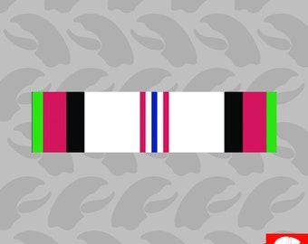 ACM Afghanistan Campaign Ribbon Sticker Self Adhesive Vinyl navy usaf usmc - C295