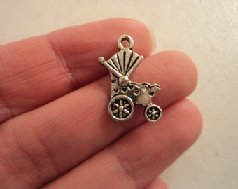 Baby Carriage Charm - Set of 8 - #B138