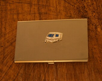 Caravan Business Credit Card Holder Travellers Gift FREE ENGRAVING