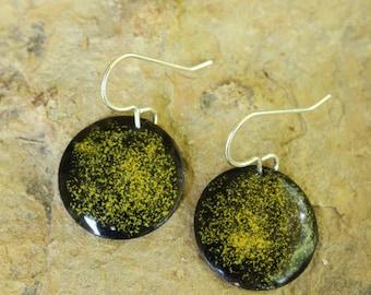 Handmade earrings, copper earrings, enameled copper earrings, sterling silver, earrings, handmade jewelry