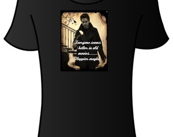 Old movie quote t-shirt Freddie Highmore Norman Bates