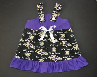 NFL Baltimore Ravens Baby Infant Toddler Girls Dress  You Pick Size