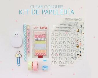 Kit de papelería Clear Colours (25% Descuento)