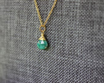 Russian Amazonite Gold Necklace