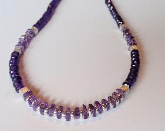 Amethyst Necklace   (JK 745)