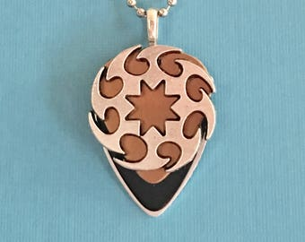 "Guitar Pick Necklace ""The First Cut Is The Deepest"""