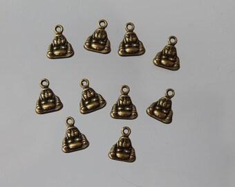 10 charms bronze metal - jewelry - bracelet - zen - Buddha charm