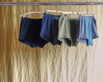SALE mens underwear shorts upcycled merino wool crafted from fine knit sweaters this is upcycling this is slow fashion this is the future
