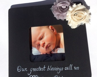 Ultrasound Sonogram Grandparent Picture Frame Announcement Gift New Baby The best parents get promoted