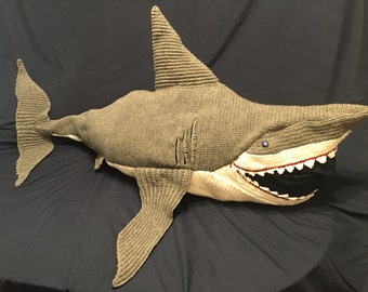 Great White Shark Blanket crochet pattern