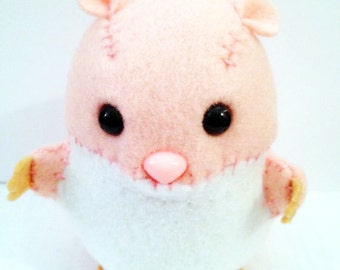 Hamster felt plushie stuffed animal- choose your color!