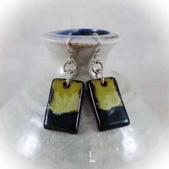 Rothko Inspired - Art Tile Earrings 3