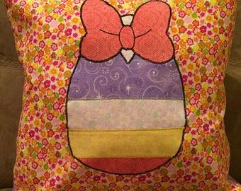Daisy Duck Easter Egg Throw Pillow