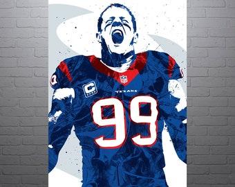 Houston Texans Man Cave Decor : Deshaun watson houston texans poster sports art print