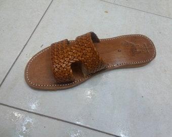Hermes leather sandal