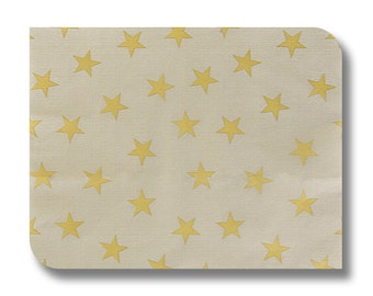 Gold stars napkin for decoupage, decorative paper sheet, Christmas paper crafts x 1.  Gold stars no. 1157