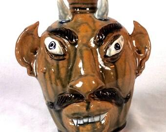 Vintage Devil Face Jug